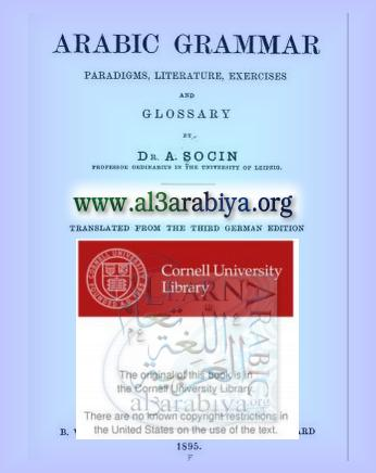 Arabic Grammar: Paradigms, Literature, Exercises And Glossary